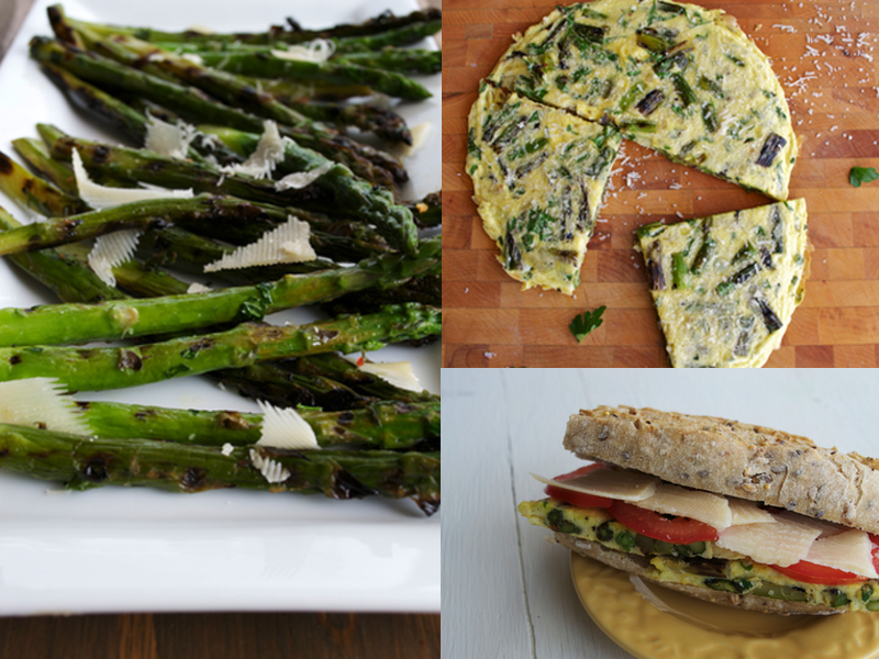 Asparagus three ways, three days
