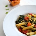 Quick pasta: Penne with cherry tomatoes and chard
