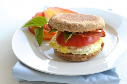 The breakfast egg sandwich with crispy prosciutto