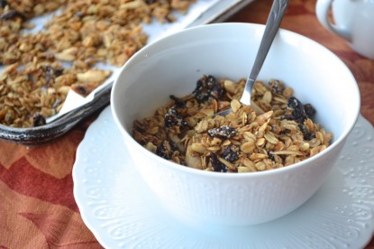 A morning must: Coconut, cherry & chia granola
