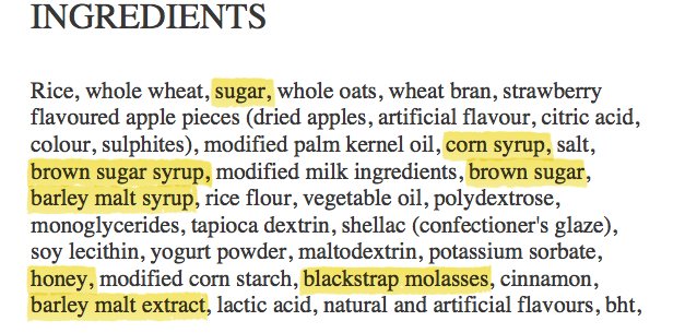 Sugar In Naturally Ocurring Foods