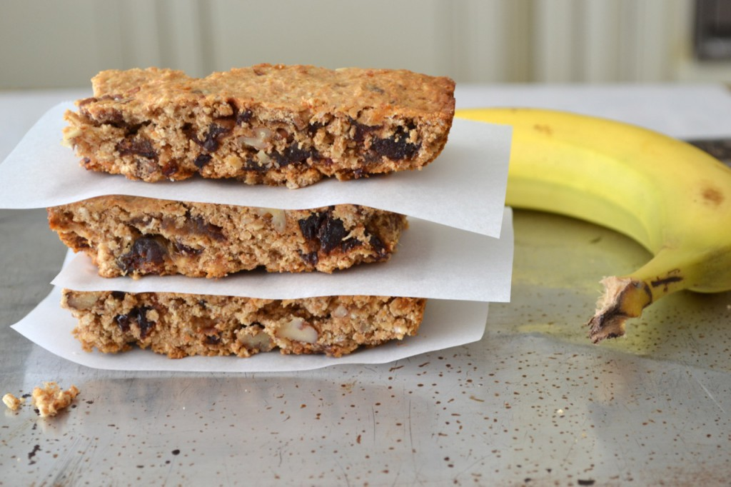 Peanut butter and banana oat squares