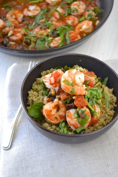 Shrimp and Quinoa Alla Puttanesca