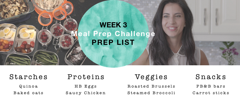 Prep list picture week 3