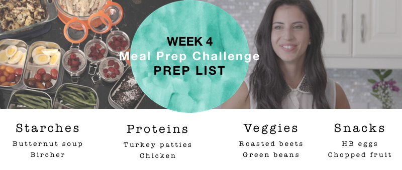 Prep list picture week 4