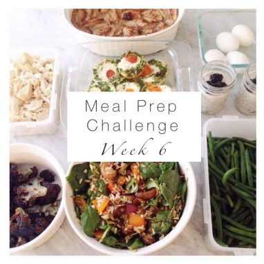 Week 6 Meal Prep Challenge