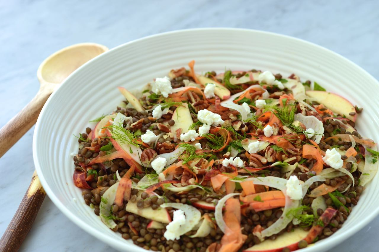Autumn lentil salad Motive Nutrition