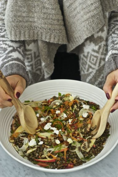 Autumn lentil salad
