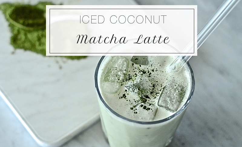 Iced Coconut Matcha Latte Motive Nutrition
