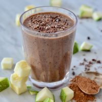 Chocolate zucchini morning smoothie