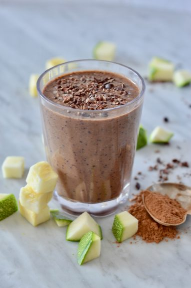Chocolate zucchini morning smoothie