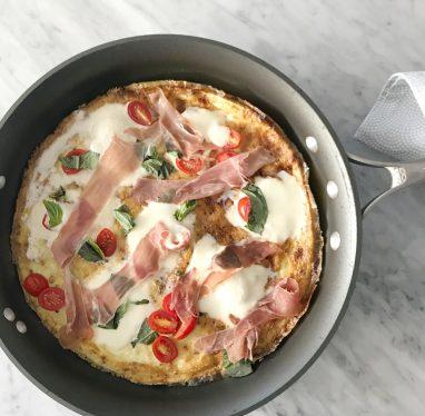 Parma Pizza frittata