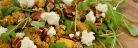 Quinoa, squash and goat cheese salad board
