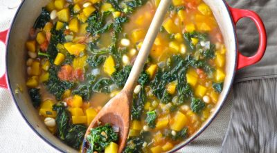 soup with kale and butternut squash