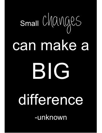 Small change challenge