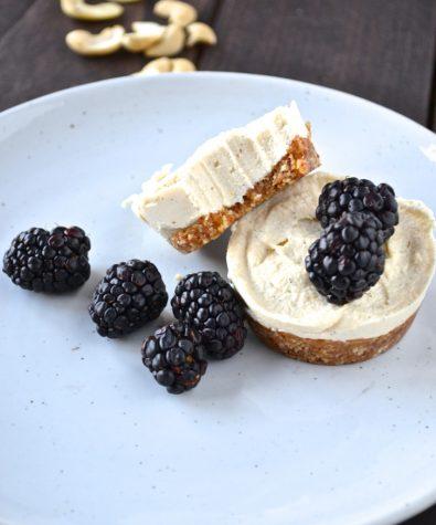 Simple Raw Lemon No-Bake Cheesecakes
