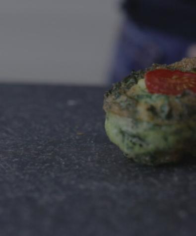 Kale & Ricotta Breakfast Bites
